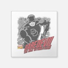 "Daredevil Black and White Square Sticker 3"" x 3"""