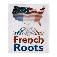 American French Roots Throw Blanket