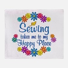 Sewing Happy Place Throw Blanket