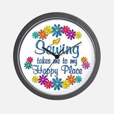 Sewing Happy Place Wall Clock