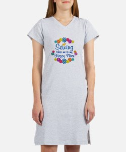 Sewing Happy Place Women's Nightshirt