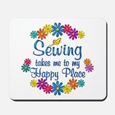 Sewing Happy Place Mousepad