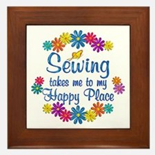 Sewing Happy Place Framed Tile