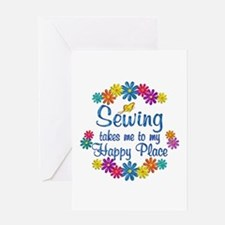 Sewing Happy Place Greeting Card
