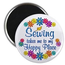 Sewing Happy Place Magnet