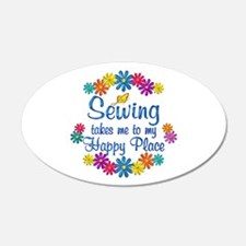 Sewing Happy Place Decal Wall Sticker