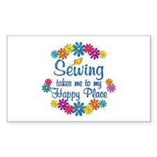 Sewing Happy Place Decal