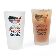 American French Roots Drinking Glass