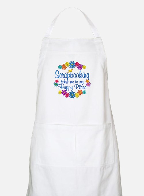 Scrapbooking Happy Place Apron