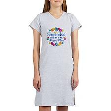 Scrapbooking Happy Place Women's Nightshirt