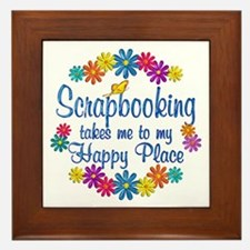 Scrapbooking Happy Place Framed Tile