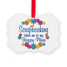 Scrapbooking Happy Place Ornament