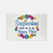 Scrapbooking Happy Place Rectangle Magnet