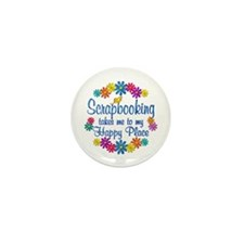 Scrapbooking Happy Place Mini Button (10 pack)