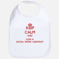 Keep Calm and Love a Social Work Assistant Bib