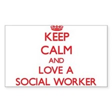 Keep Calm and Love a Social Worker Decal