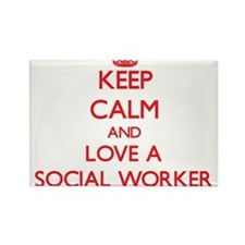 Keep Calm and Love a Social Worker Magnets