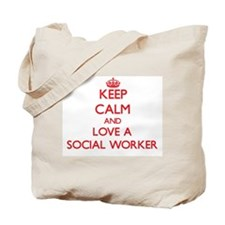 Keep Calm and Love a Social Worker Tote Bag