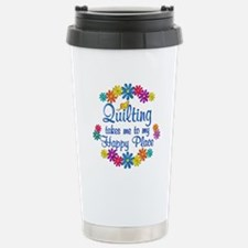 Quilting Happy Place Stainless Steel Travel Mug