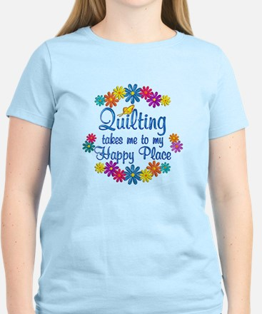 Quilting Happy Place Women's Light T-Shirt