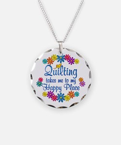 Quilting Happy Place Necklace