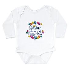 Quilting Happy Place Long Sleeve Infant Bodysuit