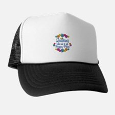 Quilting Happy Place Trucker Hat