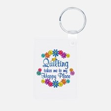Quilting Happy Place Keychains
