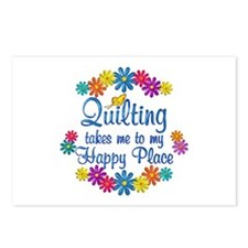 Quilting Happy Place Postcards (Package of 8)