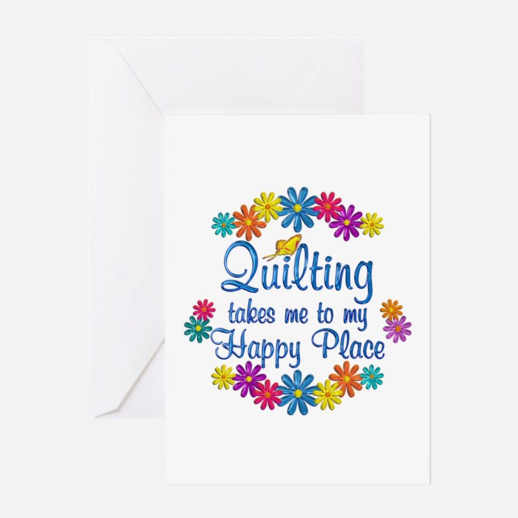 Quilting Happy Place Greeting Card