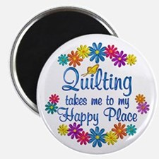 Quilting Happy Place Magnet