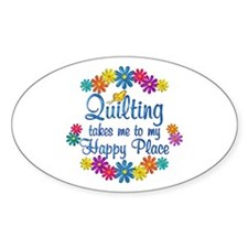 Quilting Happy Place Decal