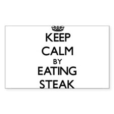 Keep calm by eating Steak Decal