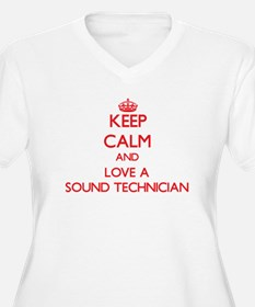 Keep Calm and Love a Sound Technician Plus Size T-