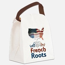 American French Roots Canvas Lunch Bag
