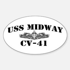 USS MIDWAY Sticker (Oval)