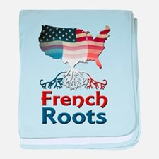 American French Roots baby blanket