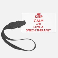 Keep Calm and Love a Speech Therapist Luggage Tag