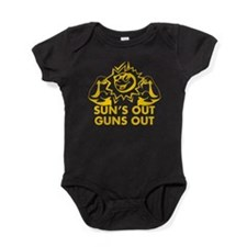 SUNS OUT! GUNS OUT! Baby Bodysuit
