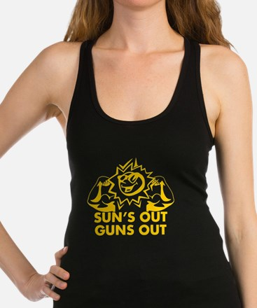 SUNS OUT! GUNS OUT! Racerback Tank Top