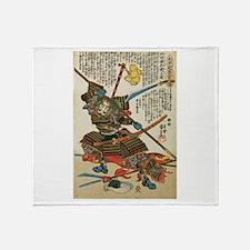 Samurai Kida Magobee Muneharu Throw Blanket