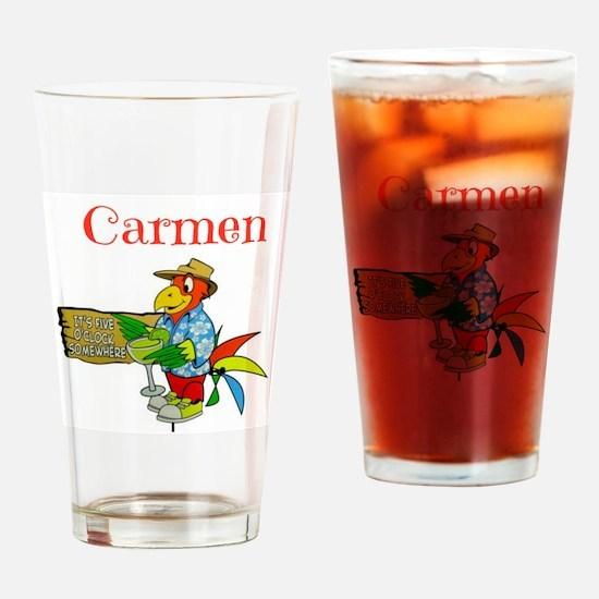 Carmen - Its 5 Oclock Somewhere Drinking Glass