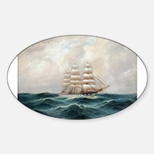 Sailing Against the Waves Decal