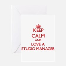 Keep Calm and Love a Studio Manager Greeting Cards