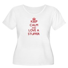 Keep Calm and Love a Stuffer Plus Size T-Shirt