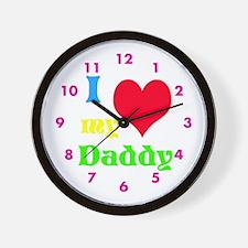 I Heart My Daddy Wall Clock