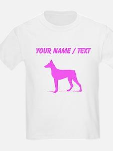 Custom Pink Doberman Silhouette T-Shirt
