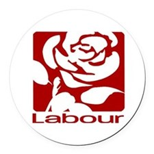 Labour Party Round Car Magnet