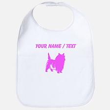 Custom Pink Cairn Terrier Silhouette Bib