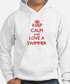 Keep Calm and Love a Swimmer Hoodie